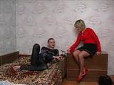 Mature Russian Blonde Mom Fuck Nerd Boy
