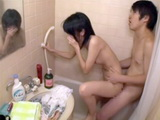 Teen Trying To Hold O Her Moan While Being Fucked Under Shower By Boyfriends Best Friend
