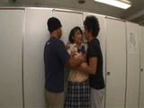 Japanese Teen Never Expected Something Like This In a Public Toilet
