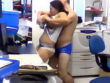 Horny Workers Caught On Surveillance Footage From The Copy Room