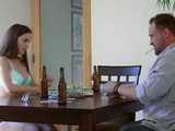 Drinking Alcohol While Playing Strip Poker With Daddy Leads To Taboo