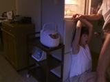 Brother In Law Use The Chance When His Brother Sleep To Do Throatfuck To His Wife  Hana Haruna