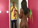Crazy Ebony Stepsister