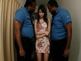 Mikuni Maisaki Gets Fucked By 2 Black Police Officers