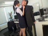 Traditional Boss Faithful To His Wife Was Totally Confused When Lustful Secretary Blackmails Him to Suck Off His Cock