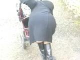 Old Granny Upskirt No Panties