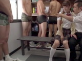 Girl Entered For An Autograph In The Mans Locker Room And Gets Hard Gangbang Instead Of Signature