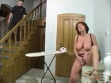 Mature Mom Thought That Boy Went To School So Start Masturbating To Relax Herself Of Hard Housework
