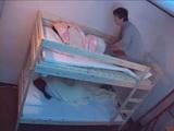 Little Sister Fucked While Elder One Sleeps In Bottom Floor Bed