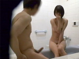 Horny Japanese Teen Enters The Bathroom While Her Roomate Was Taking A Shower