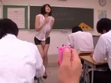 Busty Milf Teacher Anri Okita Abused In Classroom and Fucked In Locker Room