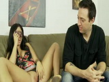 Provocative Stepsister Is Showing Her Shaved Pussy To Her Stepbrother