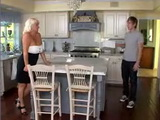 Mature Woman Fucks Delivery Boy In Kitchen as Punishment For Being Late