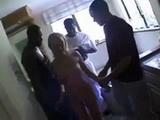 Three Monster Black Cocks Destroy Poor Blonde Teen Girl