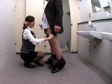 Secretary Miku Aoki Obey Her Boss In the Toilet
