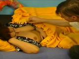 Horny Kid Plays With Sleeping Mature Stepmoms Boobs