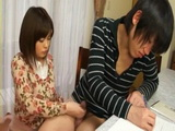 Mother Airu Oshima Helps Her Son Study Better With Handjob
