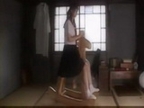 Stepdad Sneaking On Japanese Teen Riding a Wooden Horse