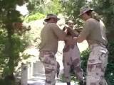 Hard Soldier Threesome