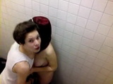 Teen College Freshmen Couple Busted In Toilet By Their Classmate