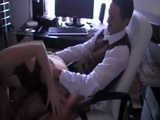 Amateur Secretary Came For A Raise But She Had To Earn It
