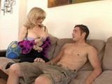 Slutty Blonde Cougar MILF Wants To Seducing Into Anal Best Friends Son