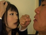 Devorced Hibiki Ohtsuki Was Hiding From Her Ex Husband But He Find Her And Fuck Her Rough