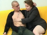 Russian Housewife Like to Taste Younger Meat In Her House