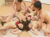 Hard Asian Orgy At School