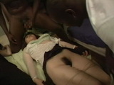 Drugged and Passed Out Japanese Mother and Daughter Fucked By 3 Black Guys