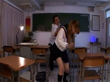 Poor Japanese Schoolgirl Couldnt Escape Horny Classmate Who Roughly Fucked Her In The Classroom