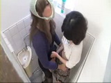Ladyboy and Girl In Toilet CFNM Tekoki