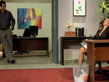 Busty Secretary Gets Horny At The Office In Front Of Her Director