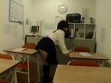 Teen Caught Masturbating With Desk Rubs Her Classmates Dick With Her Ass Till Cum
