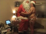 Santa Claus Anal Fucks His Mature Santa Helper Wife