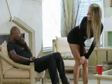 Bitchy Blonde Teasing Too Hard Moms Black Boyfriend
