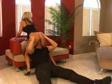 Guy From Security Fucks Hot Blonde Milf In Front Business Partners