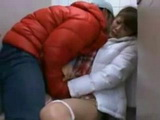 Asian Girl Caught Alone in Public Toilet Forced To Fuck