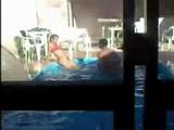 Latin Teenagers Secretly Taped Fucking In The Pool
