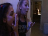 Sneaky Daughter And Her Best Friend Spying Her Mom And Her Boyfriend Fucking