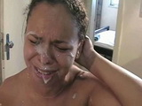 Latina Girl Crying After First Facial Cumshot  In Her Life