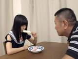 Old Pervert Stranger Lured Naive Schoolgirl With Icecream And When He Saw How Nice He Licked It He Made Her To Suck His