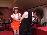 Naughty Barmaid Yuma Asami Abuse Bartender Guy Afterhours CFNM