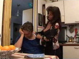 Depressed Son Gets Cheered Up By His Mature Mother