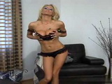 Busty Blonde Milf Gets Talked Into Strpitease and Making Sextape