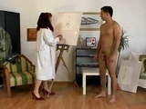 Mature Redhead Painter Couldnt Resist Nude Models Cock