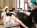 Father Caught Neighbor Granny Doing Blowjob To His Son