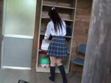 Japanese Schoolgirl Saiki Yua Gets Followed By A Old Pervert Stalker To The Place Nobody Could Hear Her