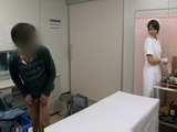 Shy Boy Who Is About To Give Sperm Sample Gets CFNM Handjob Help From Nurse Yuri Aine