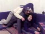 Arab Dad Having Fun With Daughters Girlfriends
